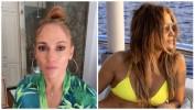 52-летняя Дженнифер Лопес показала роскошную фигуру вкупальнике надень рождения