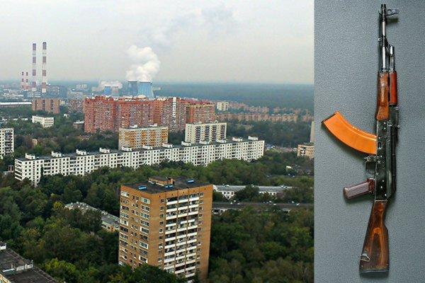 В Москве мужчина купил оружие в интернете и устроил стрельбу во дворе