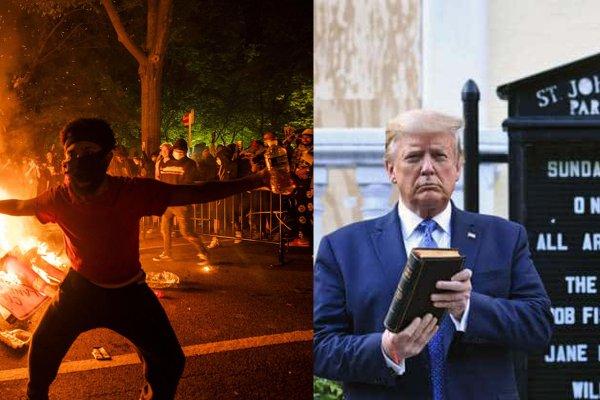 Фотосессию Трампа возле церкви в Вашингтоне осудил епископ