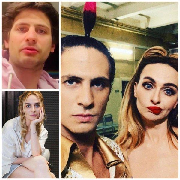 Екатерине Варнаве приписали роман с Александром Молочниковым. Фото: Instagram @kativarnava, @kislomolochniy