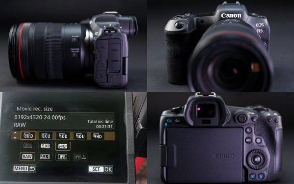 Инсайдеры показали новую беззеркальную камеру Canon EOS R5