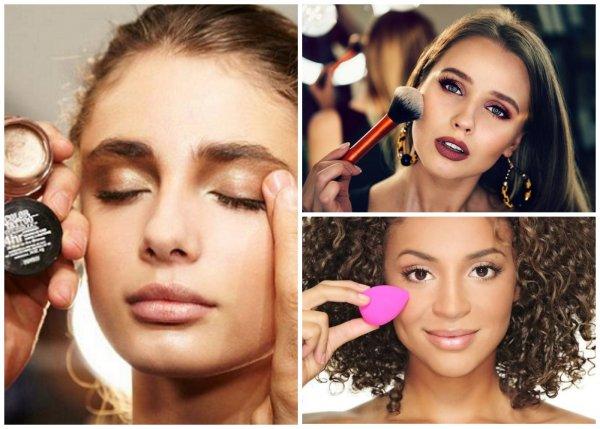 Кистью для макияжа, спонжем  или пальцем – чем лучше наносить макияж