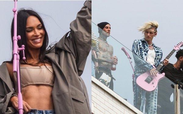 Меган Фокс посетила тайный концерт возлюбленного Machine Gun Kelly